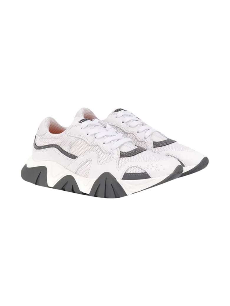 Young Versace White Sneakers Teen - Bianco