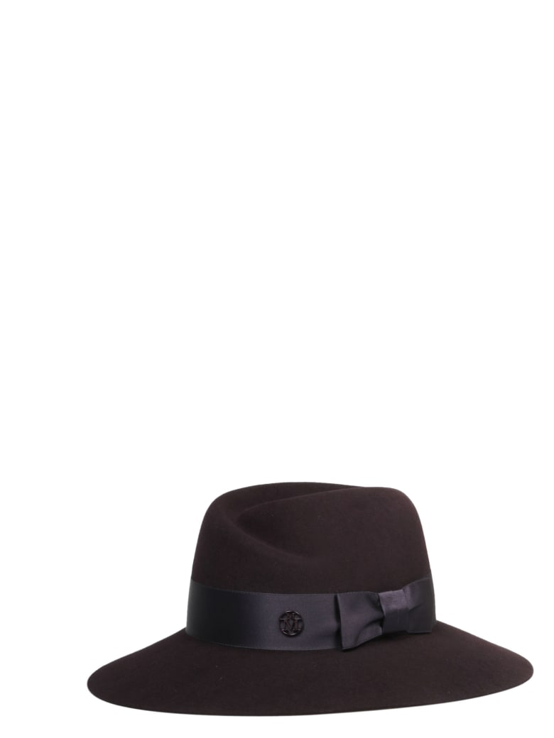 Maison Michel Hat - Dark Purple