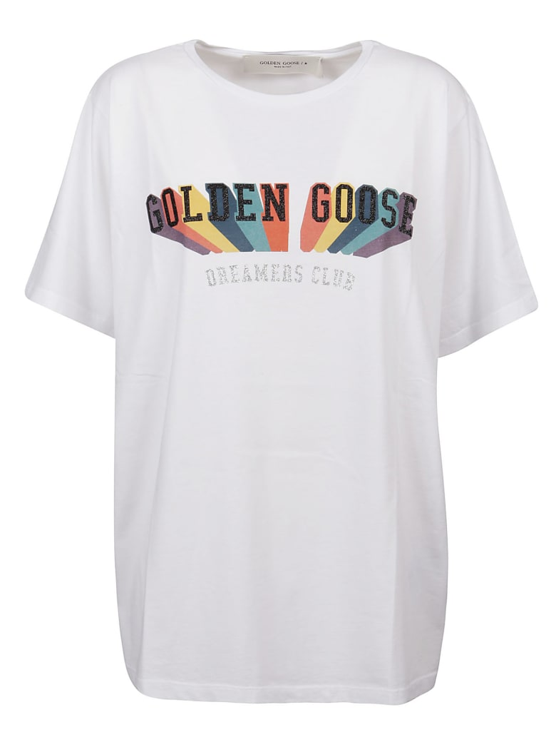 Golden Goose Aira Boyfriend T-shirt - White/Multicolor