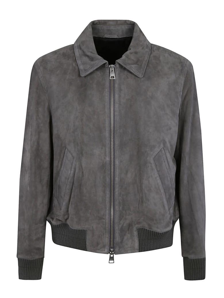 Ami Alexandre Mattiussi Classic Zipped Bomber - Dark Grey