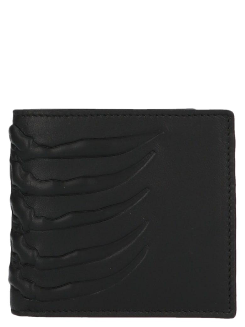 Alexander McQueen 'rib Cage' Wallet - Black