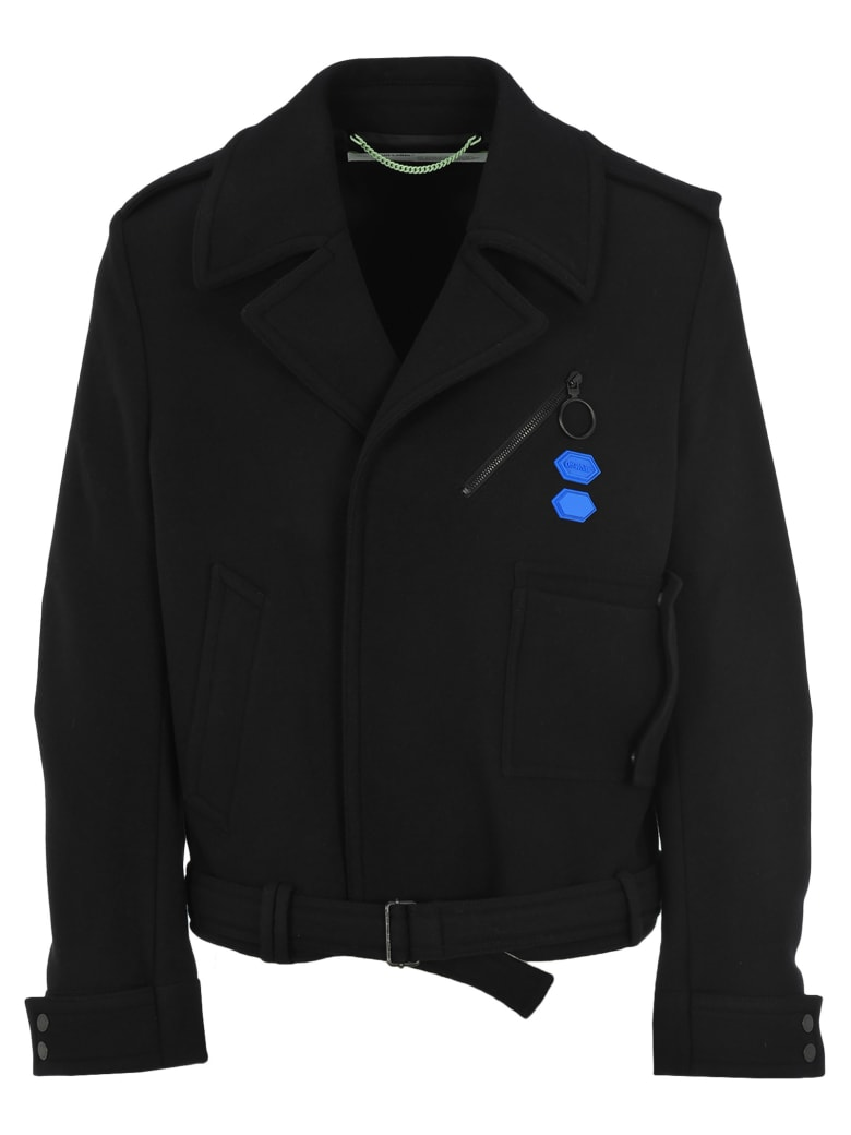 Off-White Off White Arrow Peacoat - BLACK