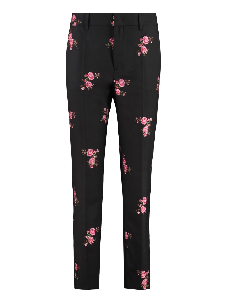 RED Valentino Wool Blend Tailored Trousers - black