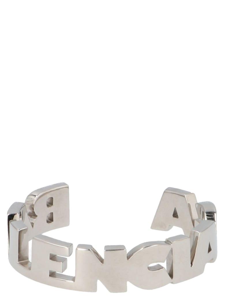 Balenciaga 'typo' Bracelet - Silver