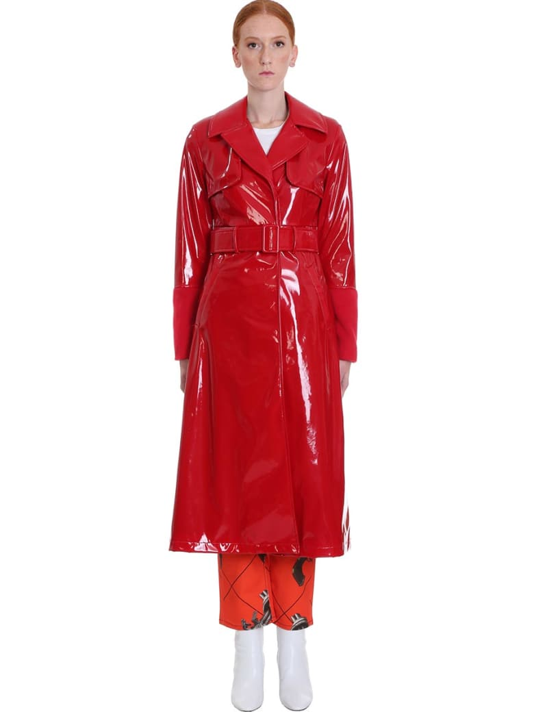Kirin Coat In Red Tech/synthetic - red