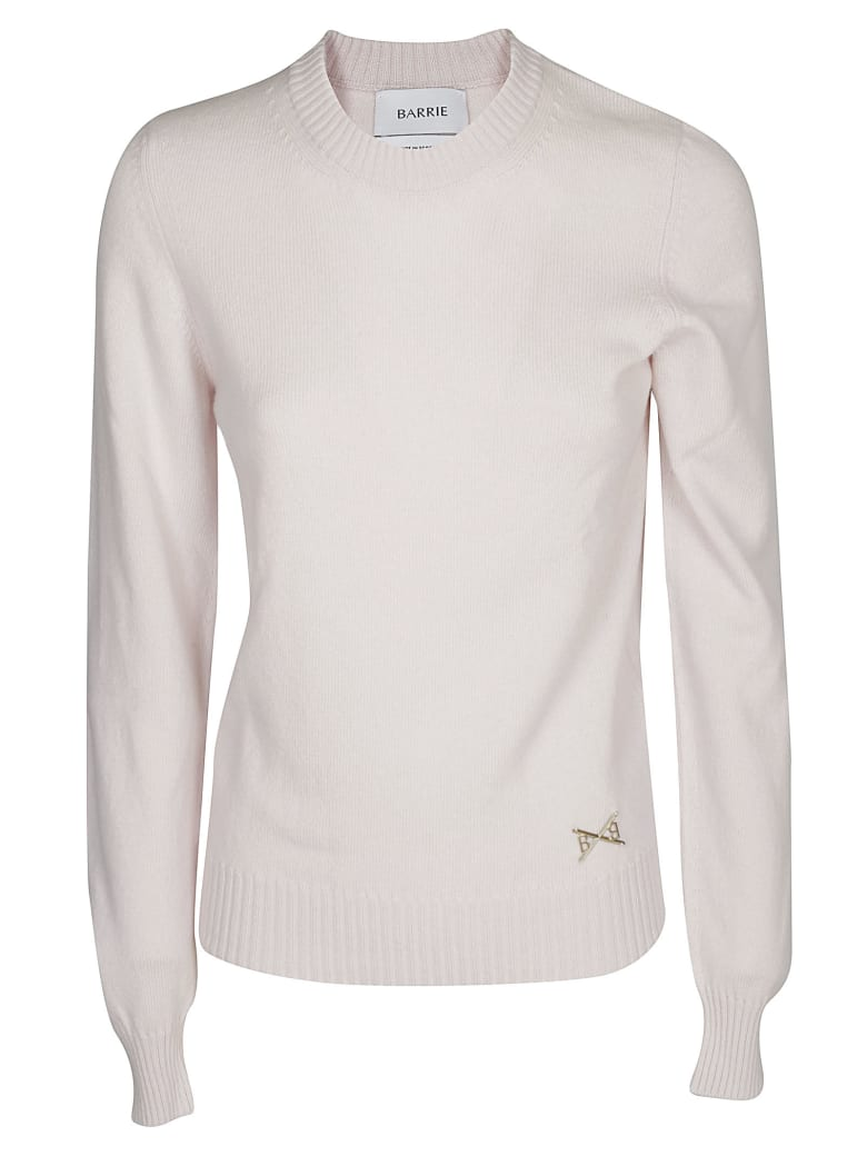 Barrie Crew Neck Knitted Sweater - LIGHT PINK