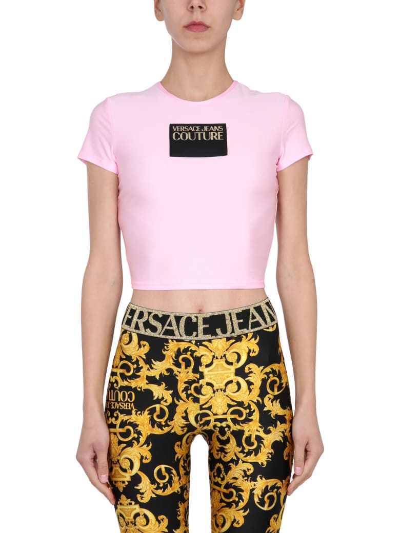 Versace Jeans Couture Crew Neck T-shirt - PINK