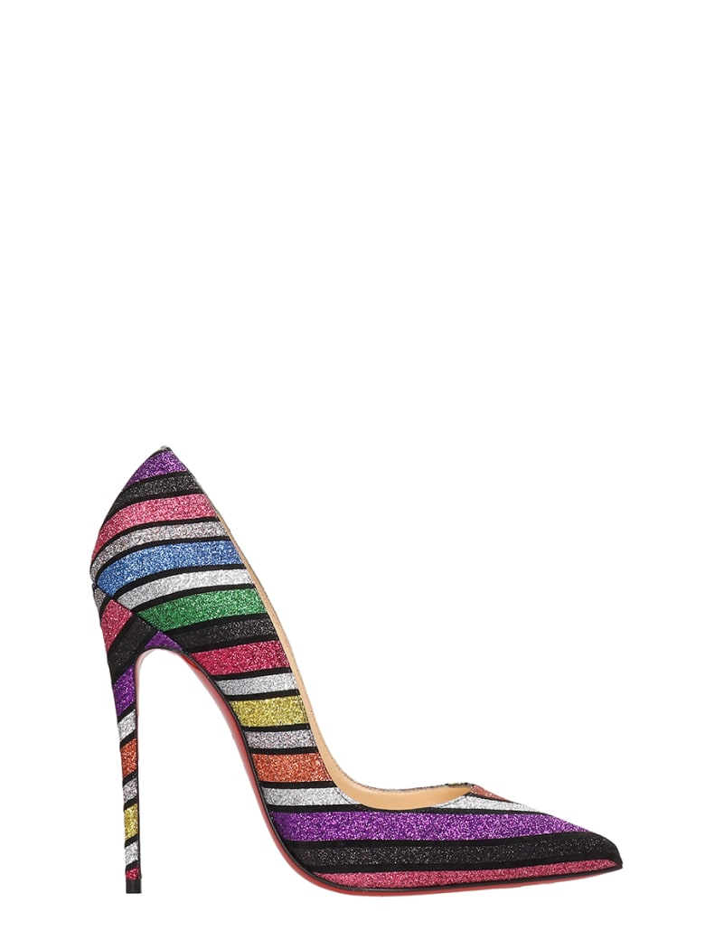 the best attitude c11f6 4049d Best price on the market at italist | Christian Louboutin Christian  Louboutin So Kate Suede And Striped Sandals