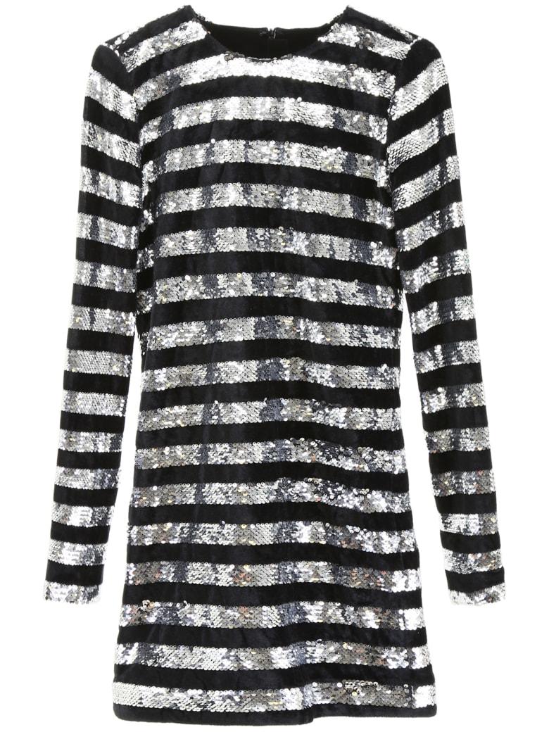 RTA Sequins And Velvet Dress - BLACK SILVER (Black)