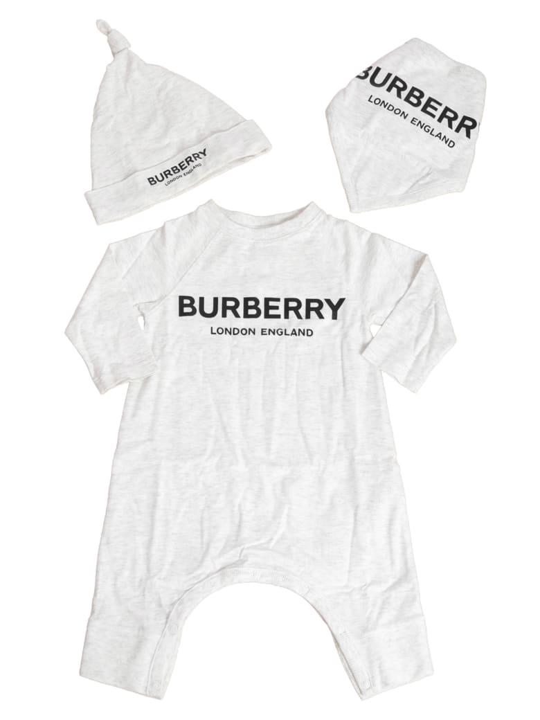 Burberry Maemae Logo Print Rompers & Cap Set