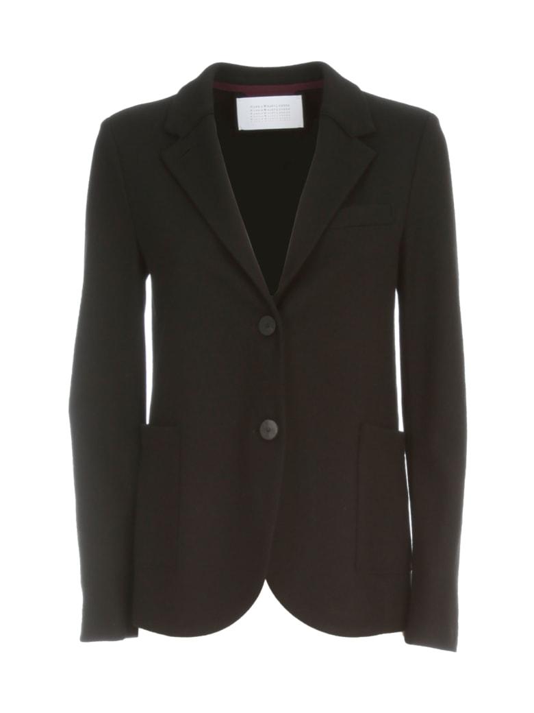 Harris Wharf London Women Stand Up Collar Boyfriend Blazer Superfine Merino - Black