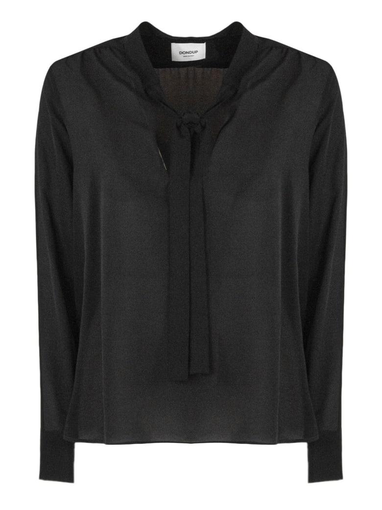 Dondup Black Silk Blend Shirt - Nero