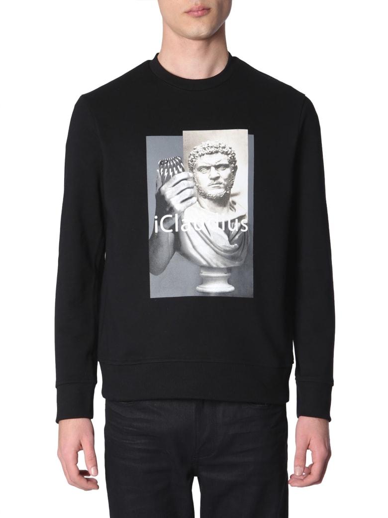 Neil Barrett I-claudius Printed Sweatshirt - NERO