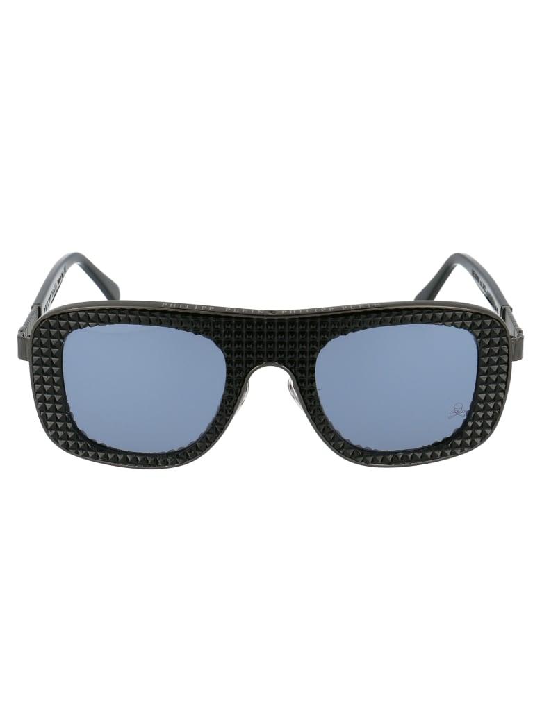 Philipp Plein 000 Ues0069 Pte003n Sunglasses - JMZJ BLACK NICKEL BLACK