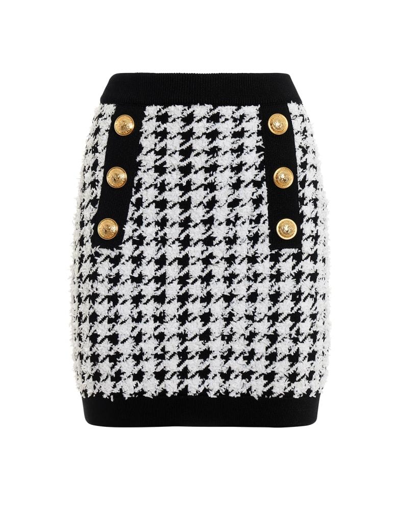 Balmain Skirt - Black/white
