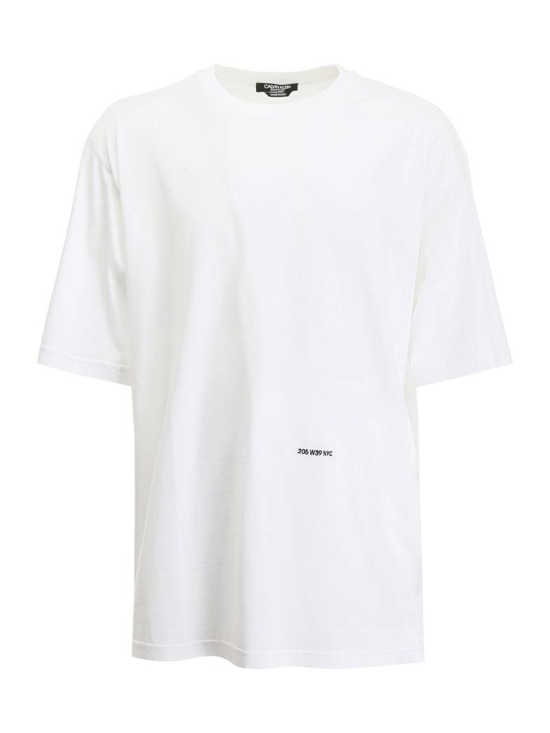 Calvin Klein T-shirt With Embroidered Logo - WHITE (White)