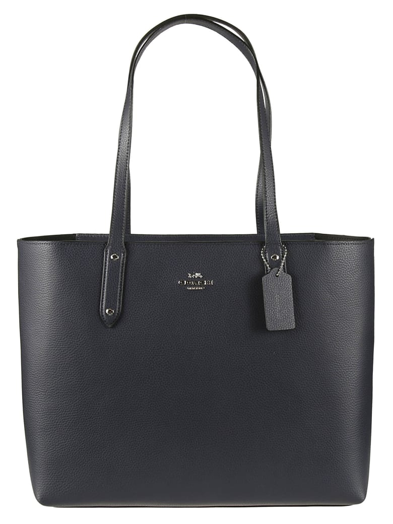 Coach Logo Top-zip Tote - Midnight Navy