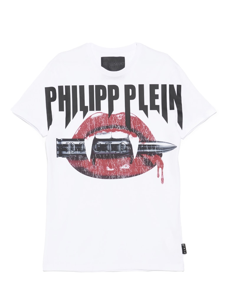 Philipp Plein 'logo Vampire' T-shirt - White