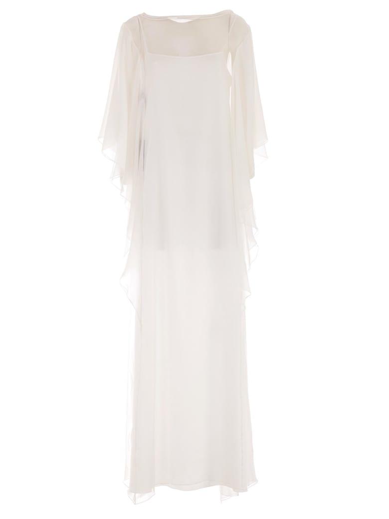 Alberta Ferretti Draped Dress - White