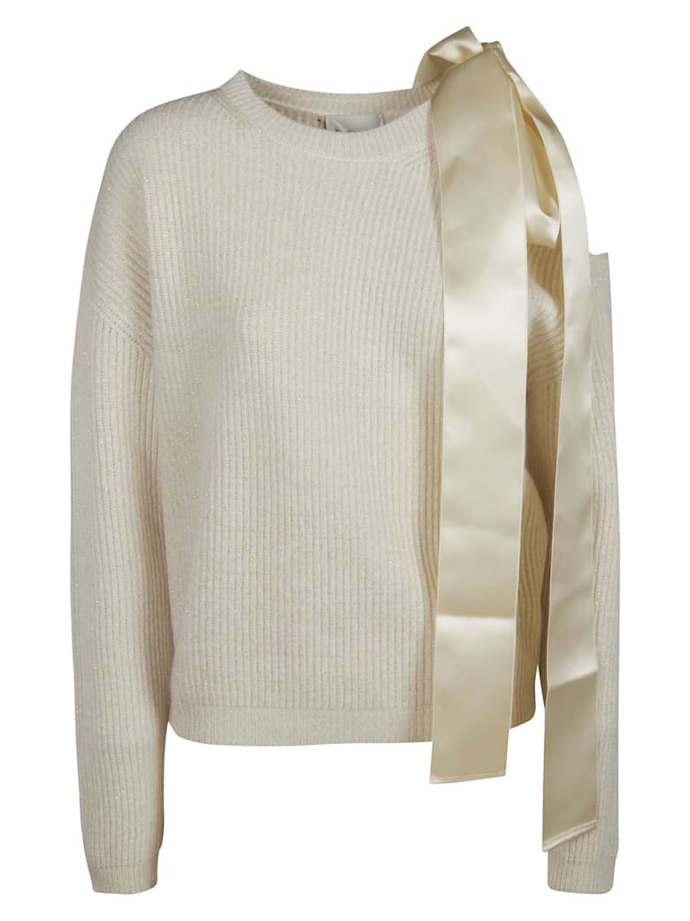 Be Blumarine Side Bow Detail Sweater - pink