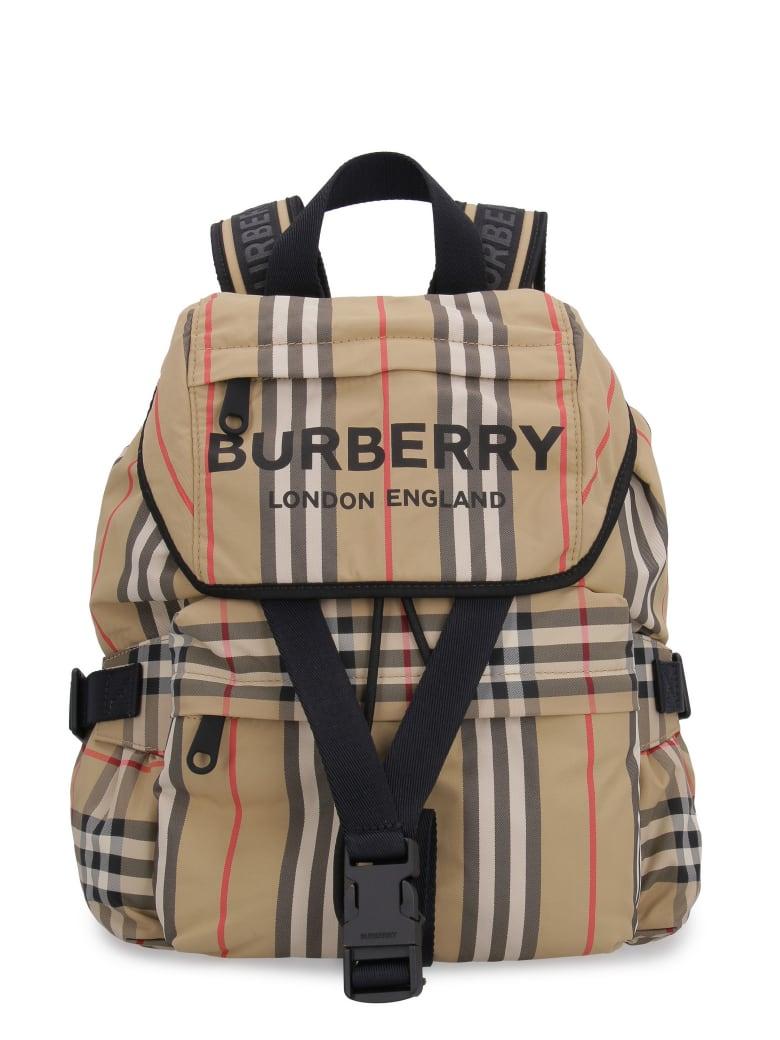Burberry Printed Nylon Backpack - Beige