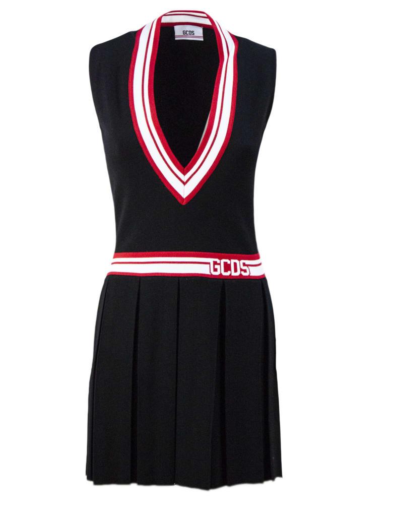 GCDS Black Short Tennis Dress - Nero