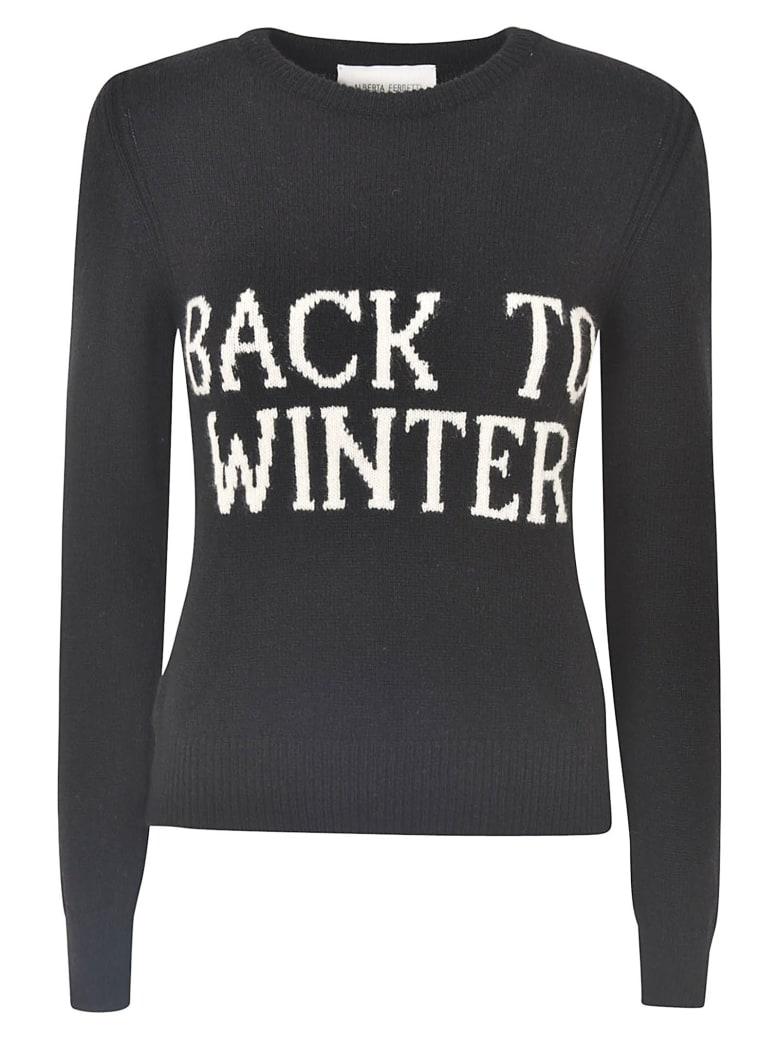 Alberta Ferretti Back To Winter Slim Sweater - Black