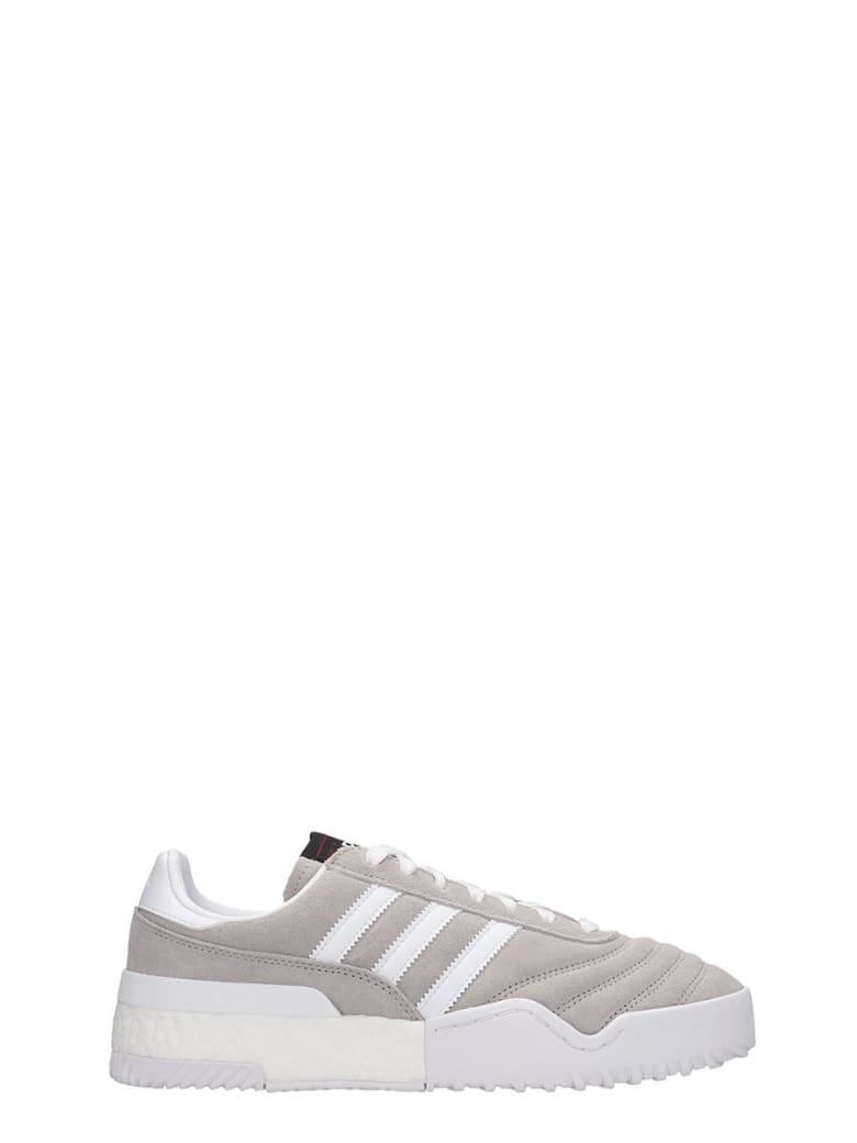 Adidas Originals by Alexander Wang Bball Soccer Sneakers In Grey Suede - grey