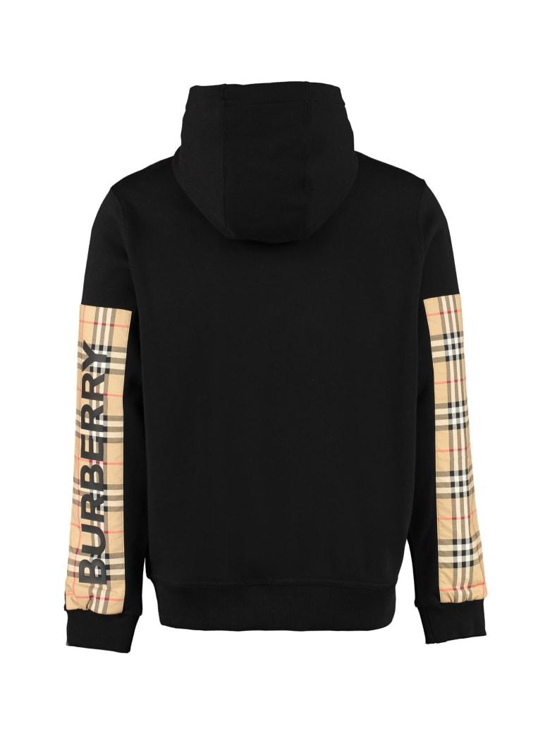 Burberry Cotton Full Zip Hoodie - black