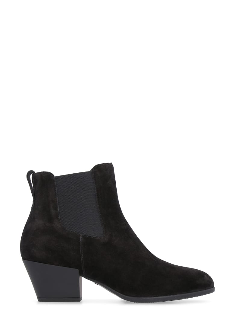 Hogan H401 Suede Low Boots - black