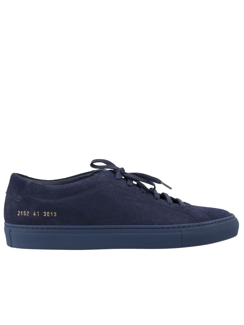 Common Projects Original Achilles Low In Suede Sneakers - Navy