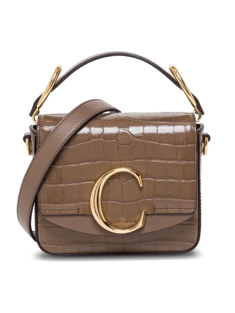 Chloé C Chloe Crossbody Bag In Crocodile Print Leather - Brown