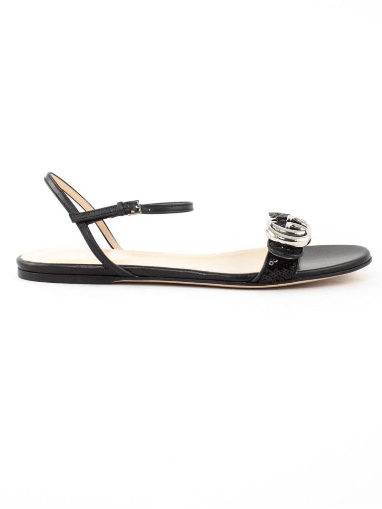 Gucci Black Leather Sandal - Nero