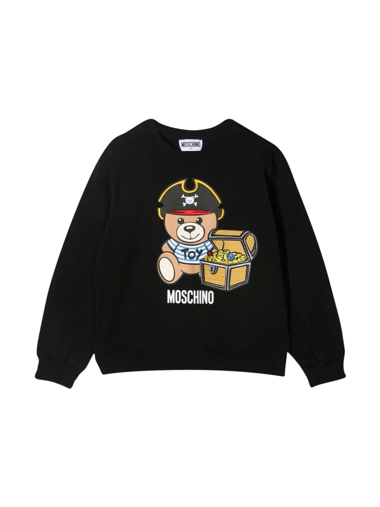 Moschino Black Teen Sweatshirt With Toy Print - Nero