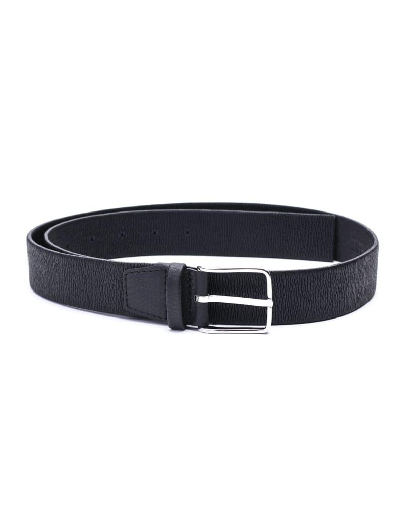 Orciani Leather Belt - BLACK