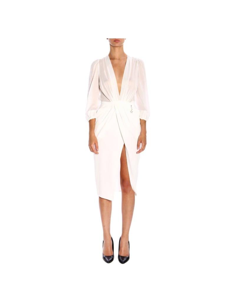 Elisabetta Franchi Celyn B. Elisabetta Franchi Dress Elisabetta Franchi Dress With Tear - white