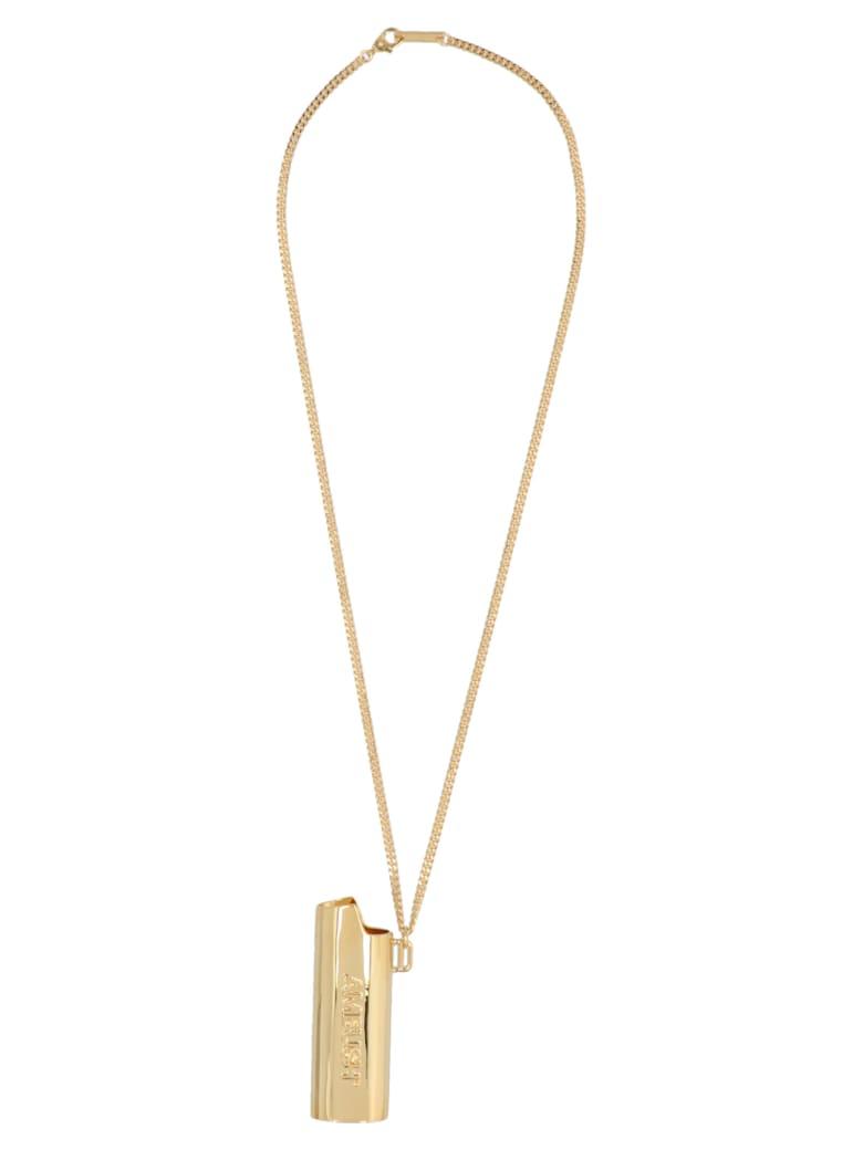 AMBUSH 'logo Lighter Case' Necklace - Gold