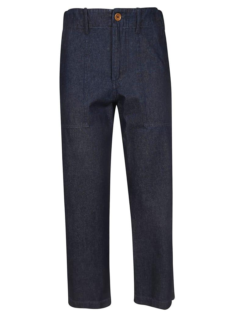 Jejia Cropped Trousers - Blue