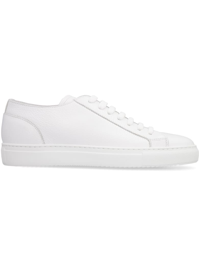 Doucal's Leather Low-top Sneakers - White