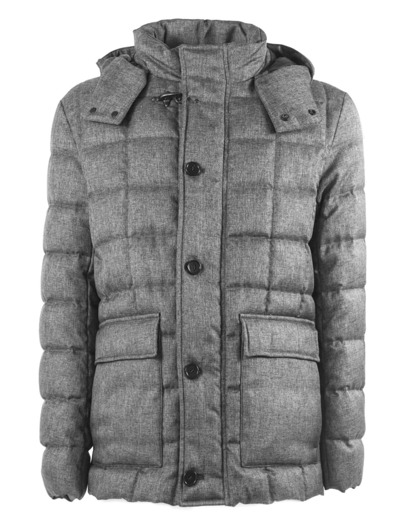 the best attitude e25c4 faedb Best price on the market at italist | Fay Fay Down Coat In Grey High Tech  Fabric