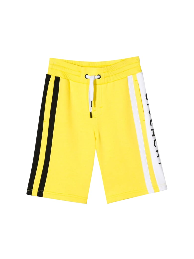 Givenchy Kids Shorts With Striped Detail - Giallo