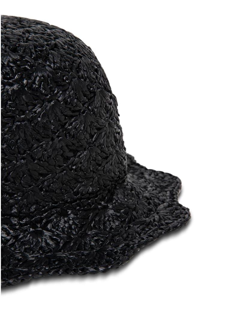 RED Valentino Braided Buket Hat - Black