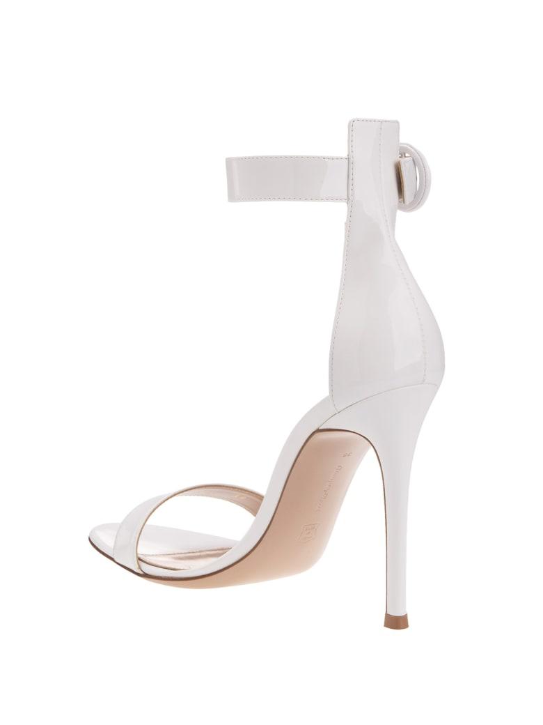 Gianvito Rossi White Portofino 105 Sandal - Bianco