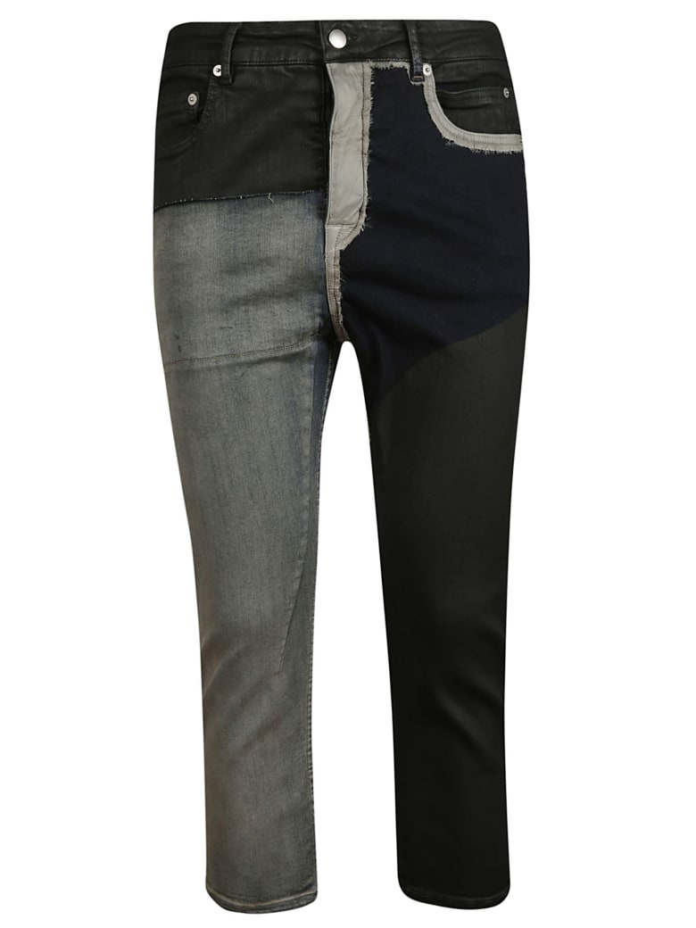 Rick Owens Cropped Jeans - black