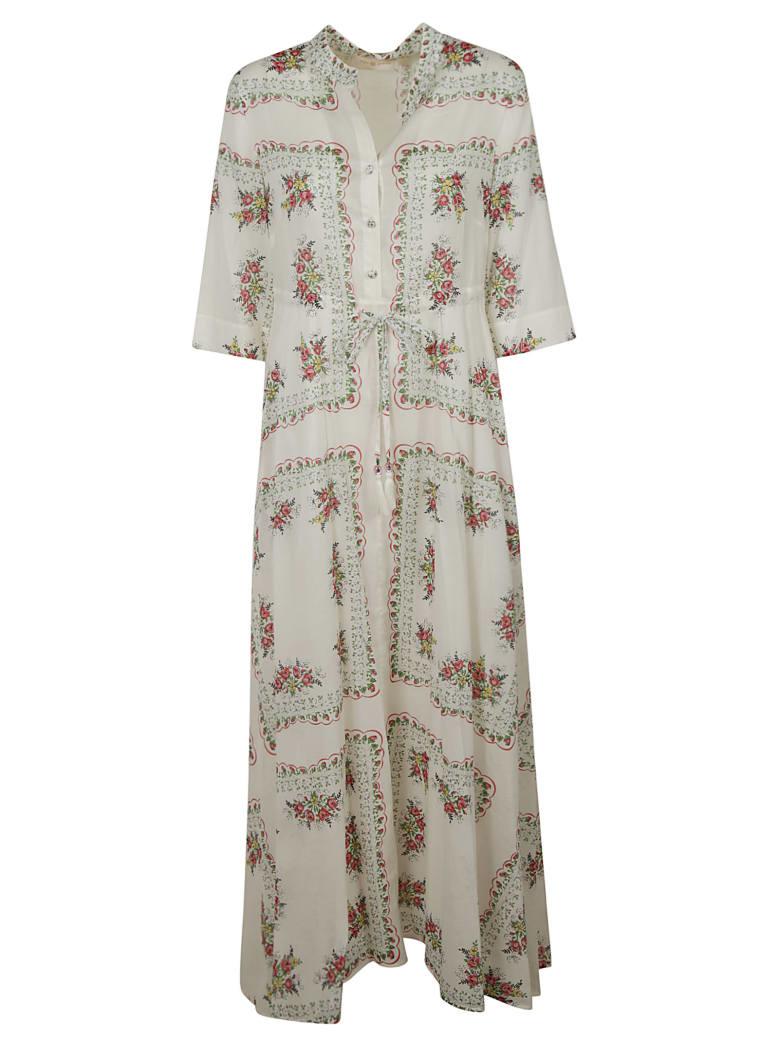 Tory Burch Printed Shirt Dress - White/Pink