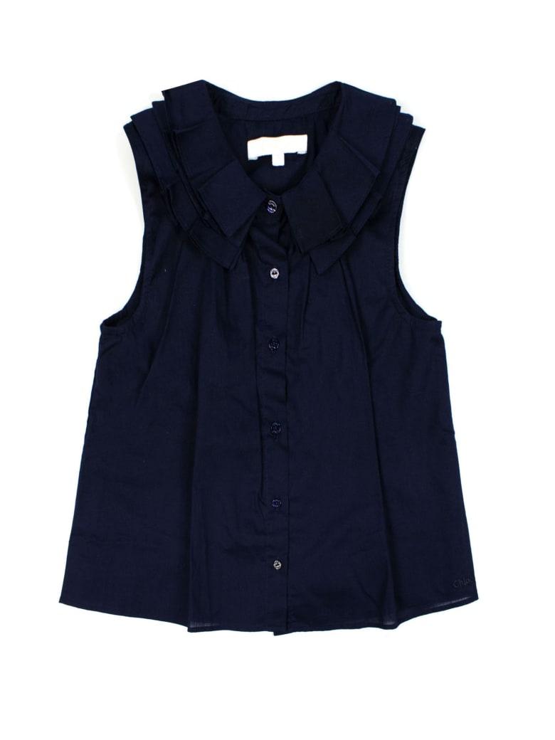 Chloé Blue Cotton Shirt - Blu