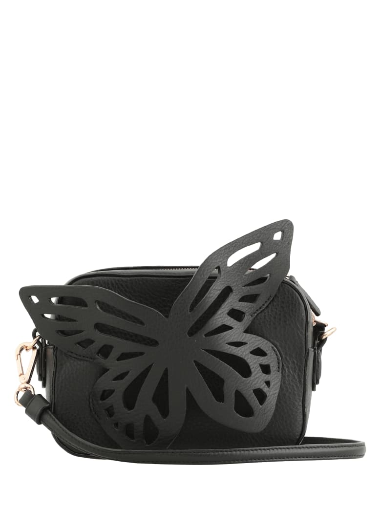 Sophia Webster Flossy Butterfly Camera - BLACK