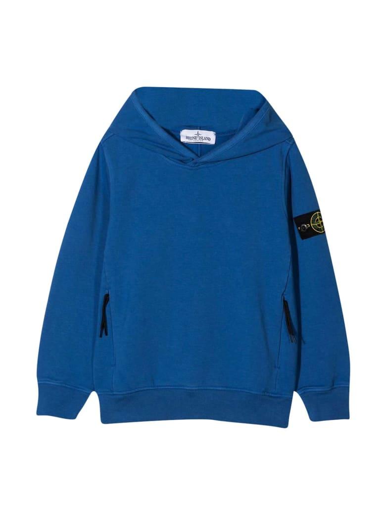 Stone Island Junior Blue Sweatshirt - Pervinca