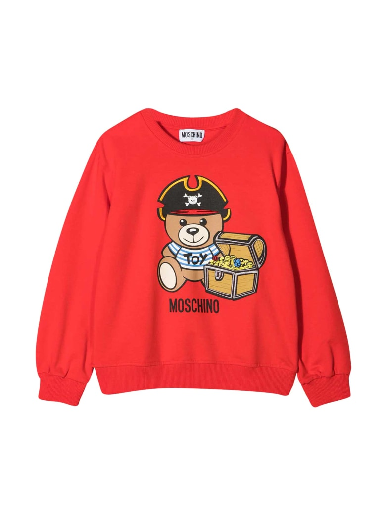 Moschino Red Sweatshirt With Toy Print - Rosso