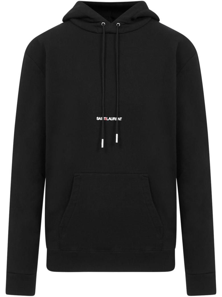 Saint Laurent Logo Sweatshirt - Black